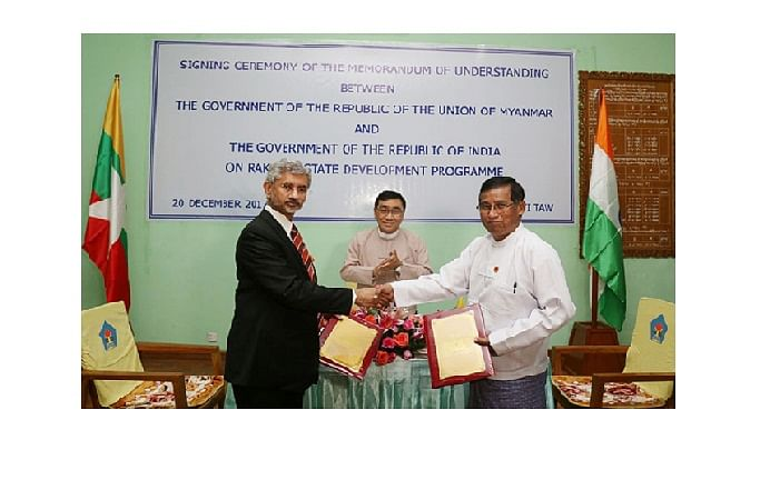 India signs deal on Rakhine projects
