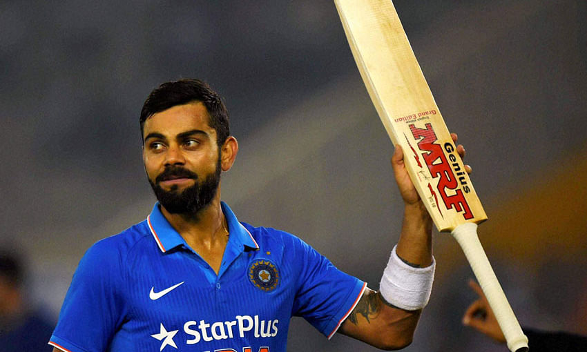Half century for Kohli; India lose 4 wickets