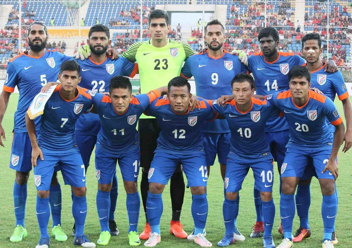 India ranked 105th in world football