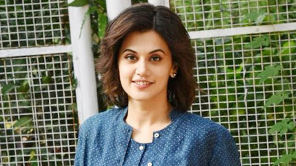 Tapsee Pannu unveils late RK Laxman's granddaughter's creation on common women
