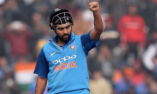 Rohit Sharma ton helps India to go past 200 in rain-hit test