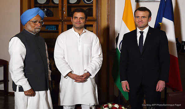 Rahul meets French President