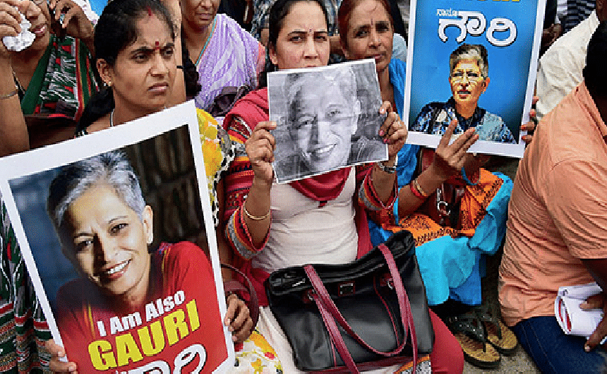 Gauri Lankesh Murder: Activists take out protest march