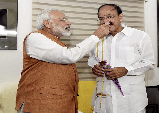 PM says hails Venkaiah's entry as V-P and RS Chairman