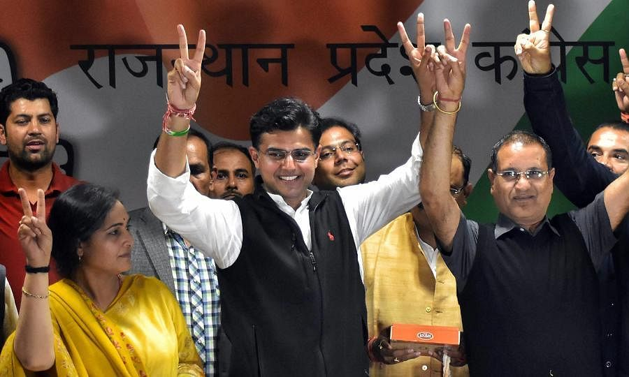 Sachin Pilot forsees more seats for than exit poll  projections