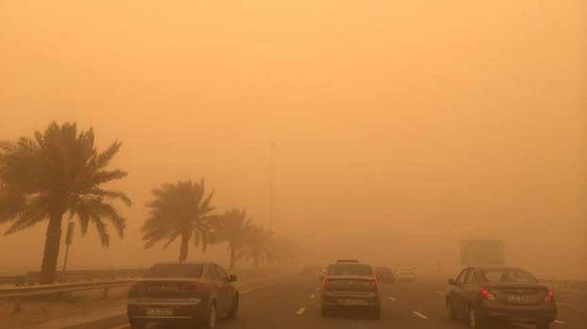 Dust haze in UAE