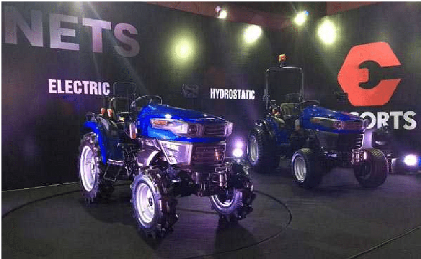 Escorts unveils country's first electric tractor concept, Launches Hydrostatic tractor