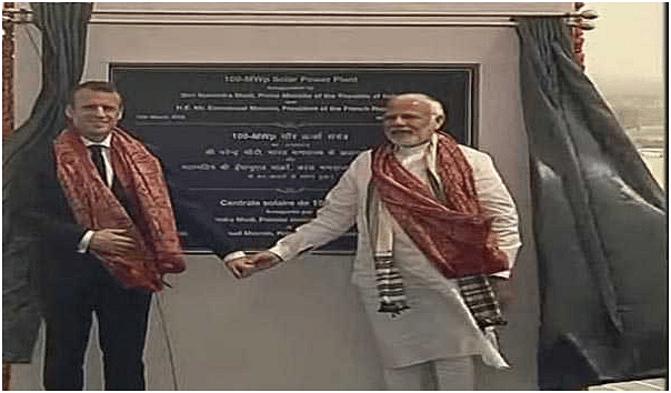 Macron, Modi inaugurate UP's biggest solar power plant in Mirzapur