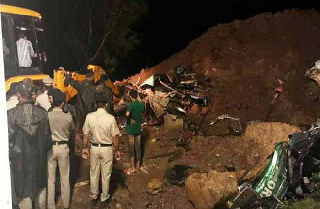 50 feared buried alive in landslide near Kotrupi, HP