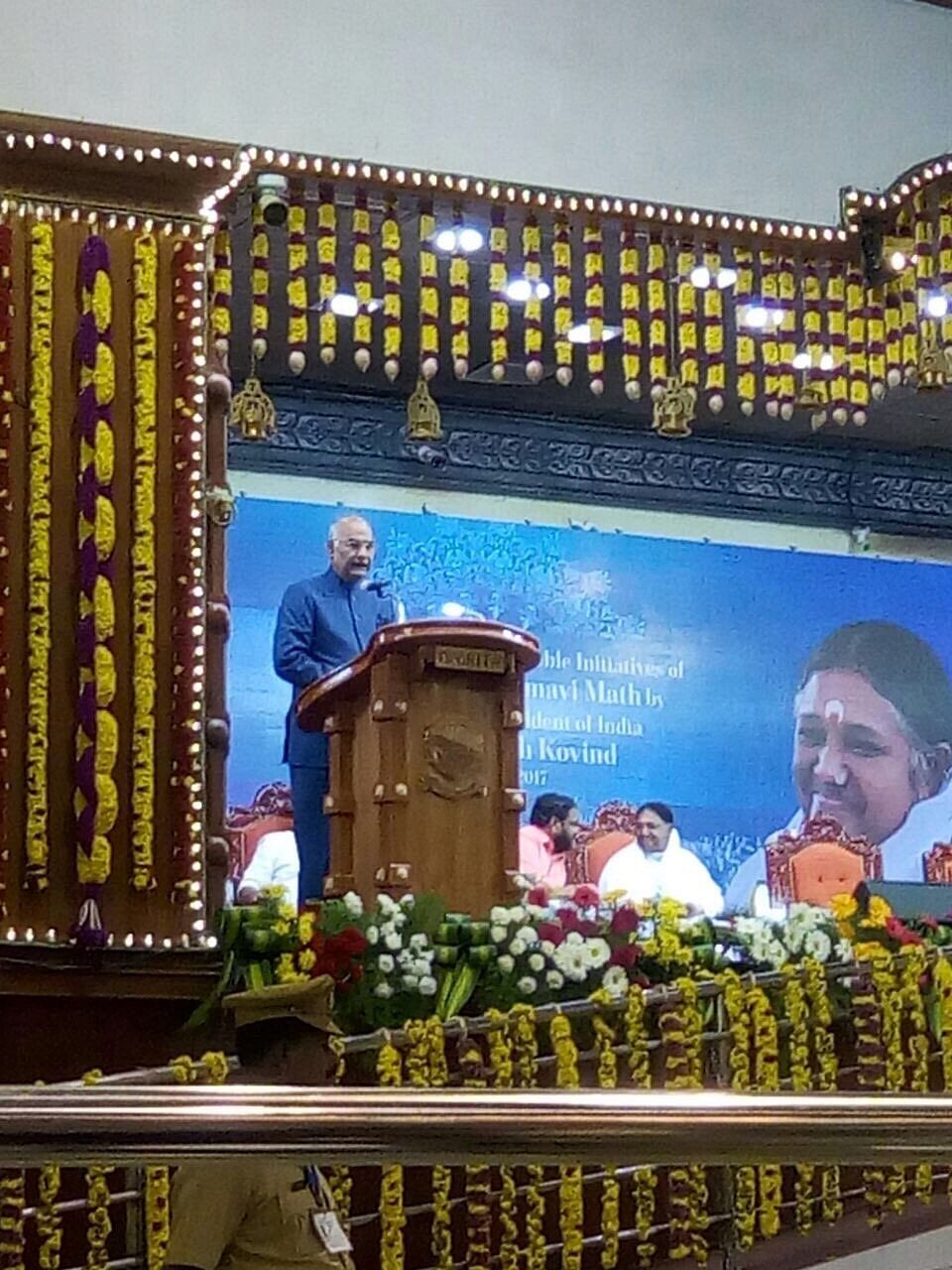 President: Amma always at the service of poor