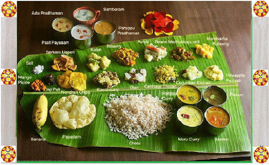 Changing trends of the Onam Sadhya