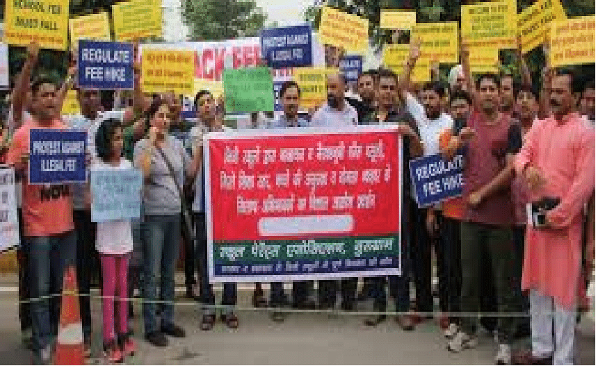Protests continue outside Gurugramschool