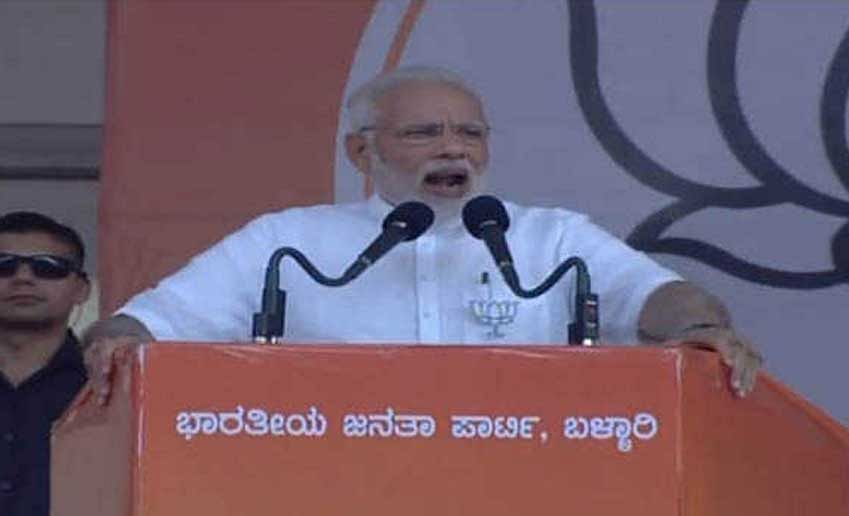 Modi gives a spin to corruption-Bellary debate
