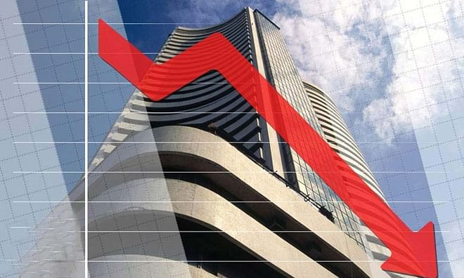 Sensex down by 104.07 pc in this week