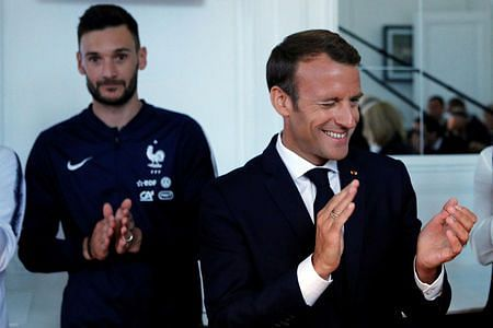 "France's Macron says he was a soccer player who ""would not let go"""