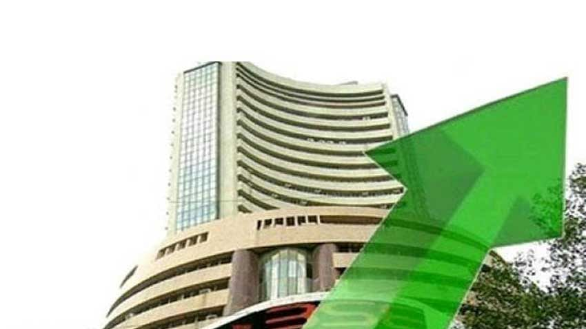 Sensex up over 300 pts