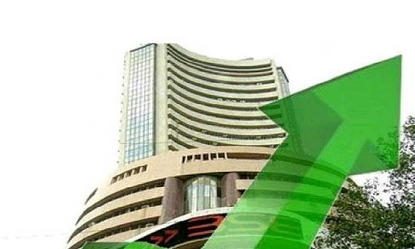 Sensex up by 156 pts