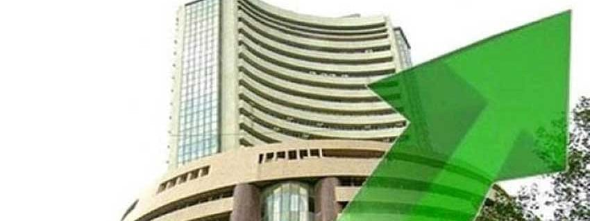 Sensex up by 75 97 pts