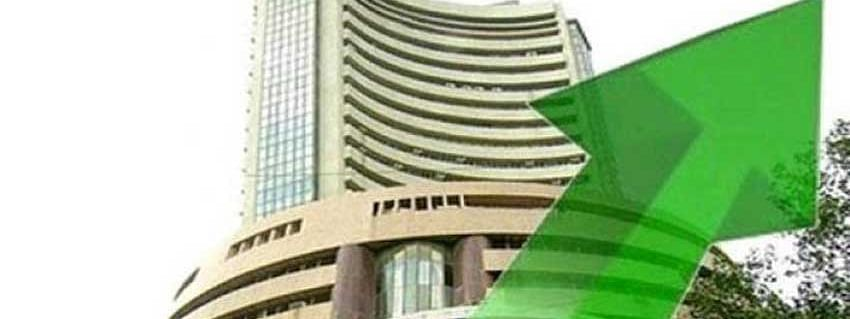 Sensex up by 108 pts