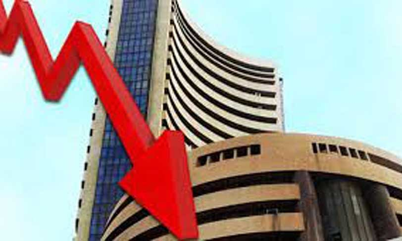 Sensex falls by 36.76 points