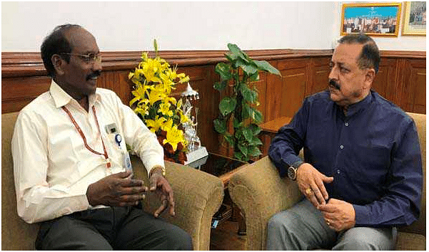 ISRO Chairman briefs Dr Jitendra Singh about Moon mission
