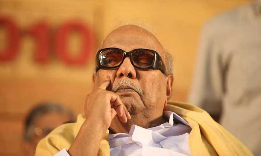 Karunanidhi back in hospital after drop in BP