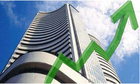 Sensex up by 180 pts