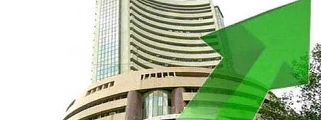 Sensex bounces back by 173 pts