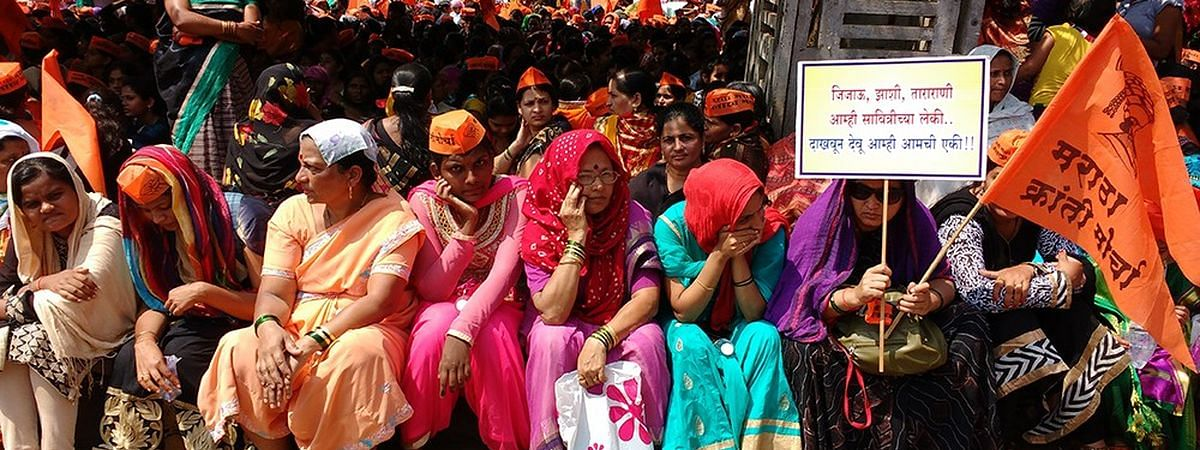 Maratha Kranti women activists take out 'morcha' in Beed