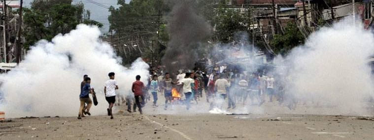 Six students injured in police firing in Manipur University