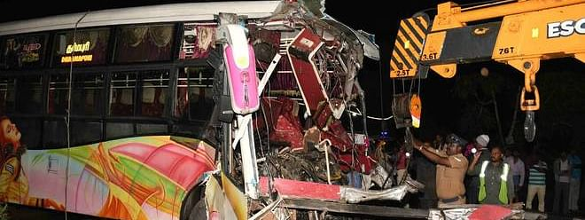 7 die as Palakkad-bound bus collides with another near Salem
