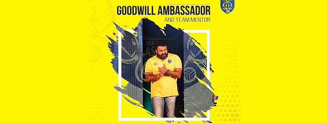 Malayalam actor Mohanlal appointed as brand ambassador of Kerala Blasters
