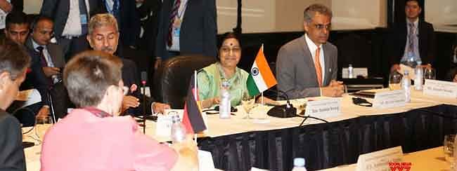 Sushma meets Foreign Ministers of Japan, Germany & Brazil