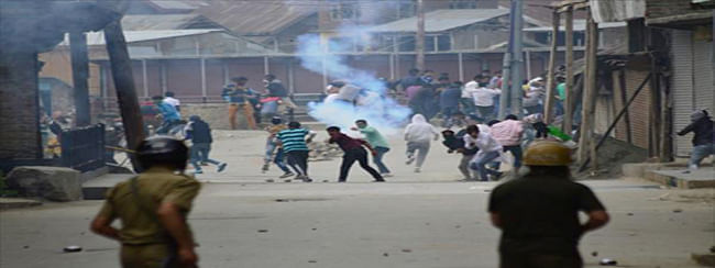 Clashes in Pulwama during CASO