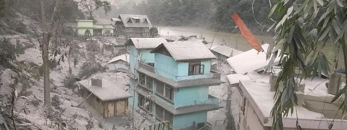 More than fifty houses affected due to landslides and rains in North Sikkim