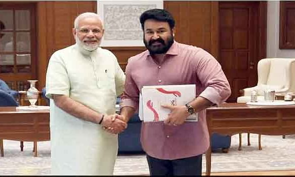 Mohanlal on cloud nine after feeling Modi's energy