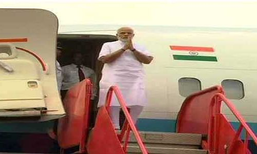 Modi arrives in Odisha to launch a slew of projects