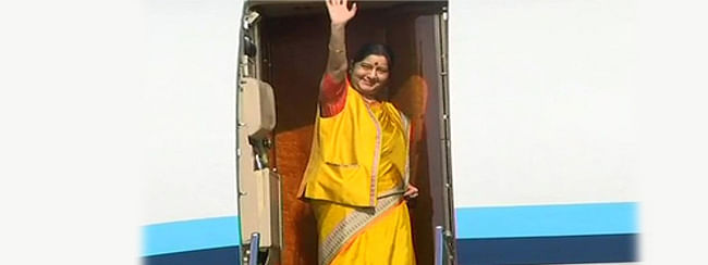 Sushma leaves for Moscow on two-day Russia visit