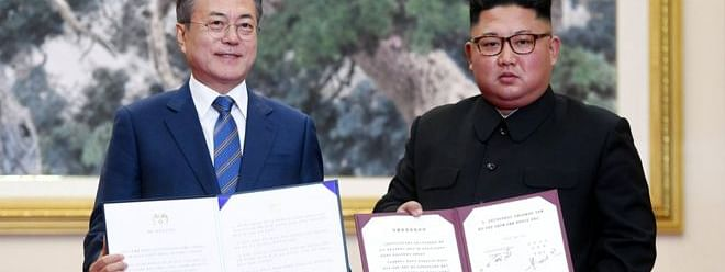 North Korea, Moon sign agreement on denuclearisation