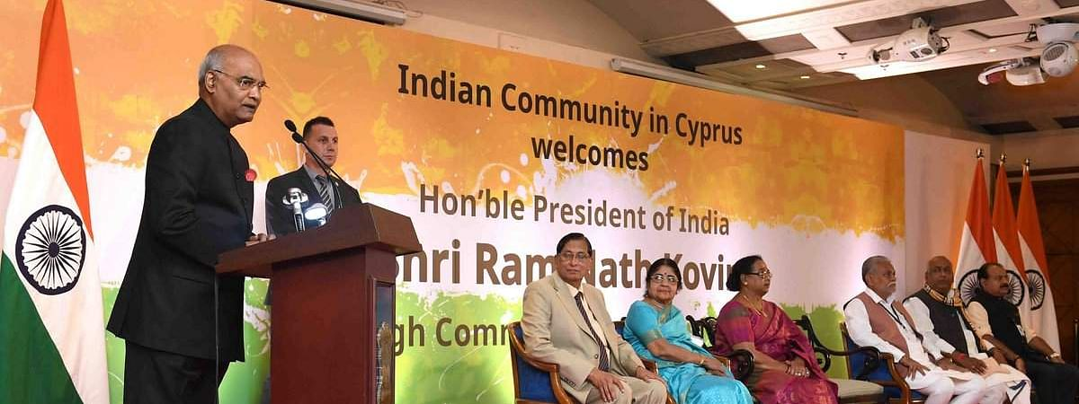 India-Cyprus pact on money laundering to ensure a 'cleaner economy': Prez
