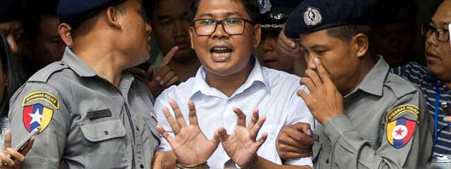 7-years jail for two Reuters reporters in Myanmar