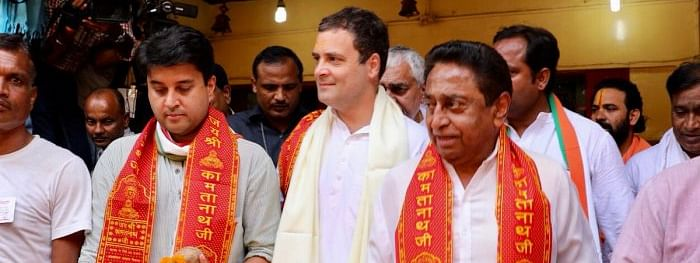 'Shiv Bhakt' Rahul carries on his temple spree in poll-bound MP