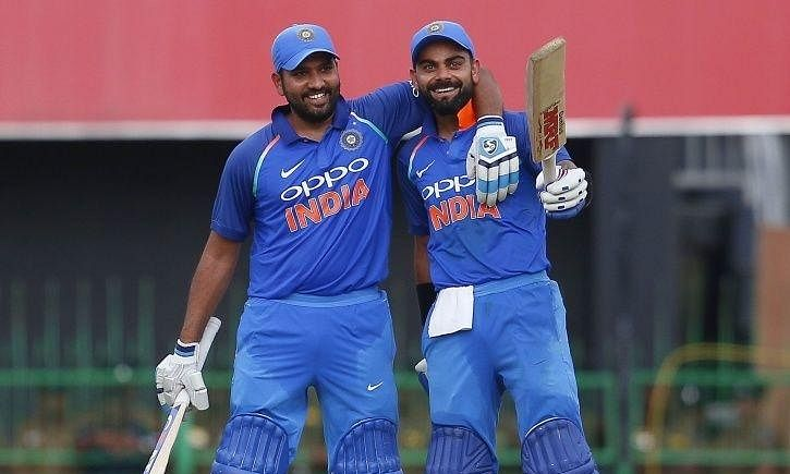Virat, Rohit hit tons as India easily surpasses West Indies' total of 322