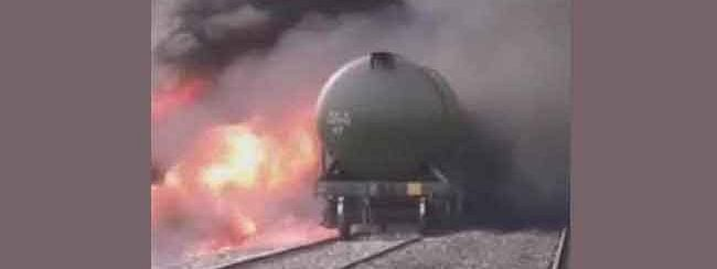 Goods train catches fire at Nagpur railway station