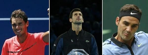 Djokovic, Nadal, Federer in year-end top three for seventh time
