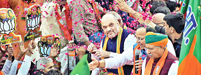 BJP chief Shah to address three rallies in Rajasthan; roadshow in Udaipur