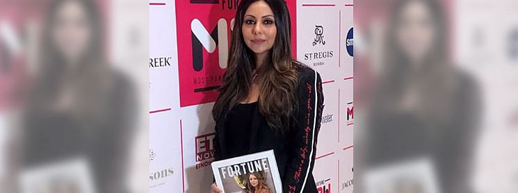 Gauri Khan felicitated at 'Fortune India's 50 Most Powerful Women in business' event