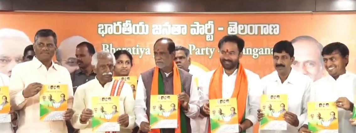 Telangana Assy polls: BJP releases manifesto, assures development of state