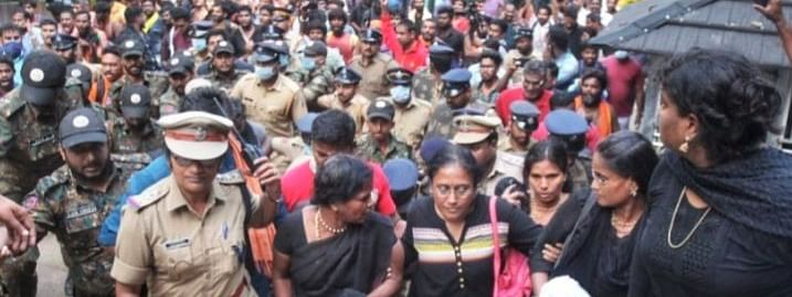Police left helpless in face of  Sabarimala protests