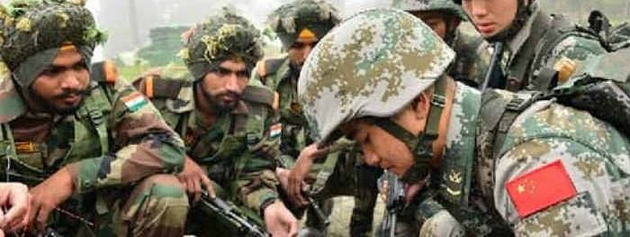Chinese military delegation interacts with Indian Army officers